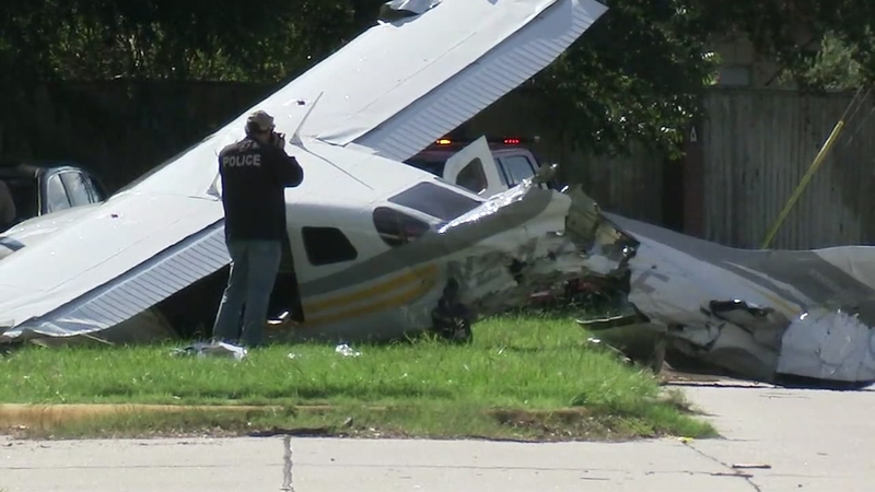 Mom and son's Toyota hit by falling DEA plane