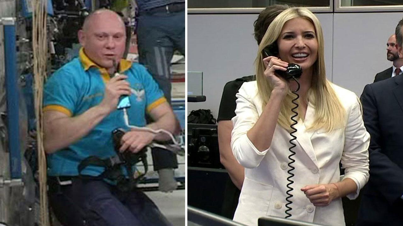 نتيجة بحث الصور عن Russian cosmonaut + Ivanka Trump