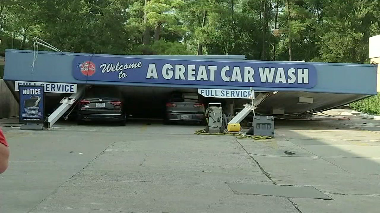 Conroe Car Wash Canopy Collapses On Top Of Cars During Storm Abc13com