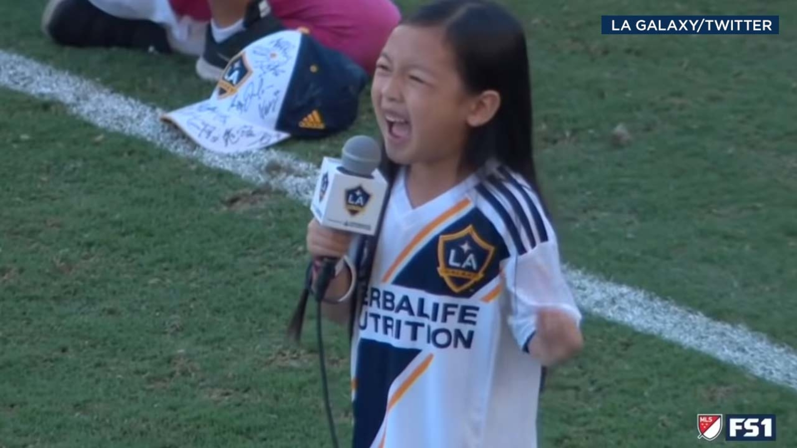 VIDEO: 7-year-old crushes national anthem at LA Galaxy game