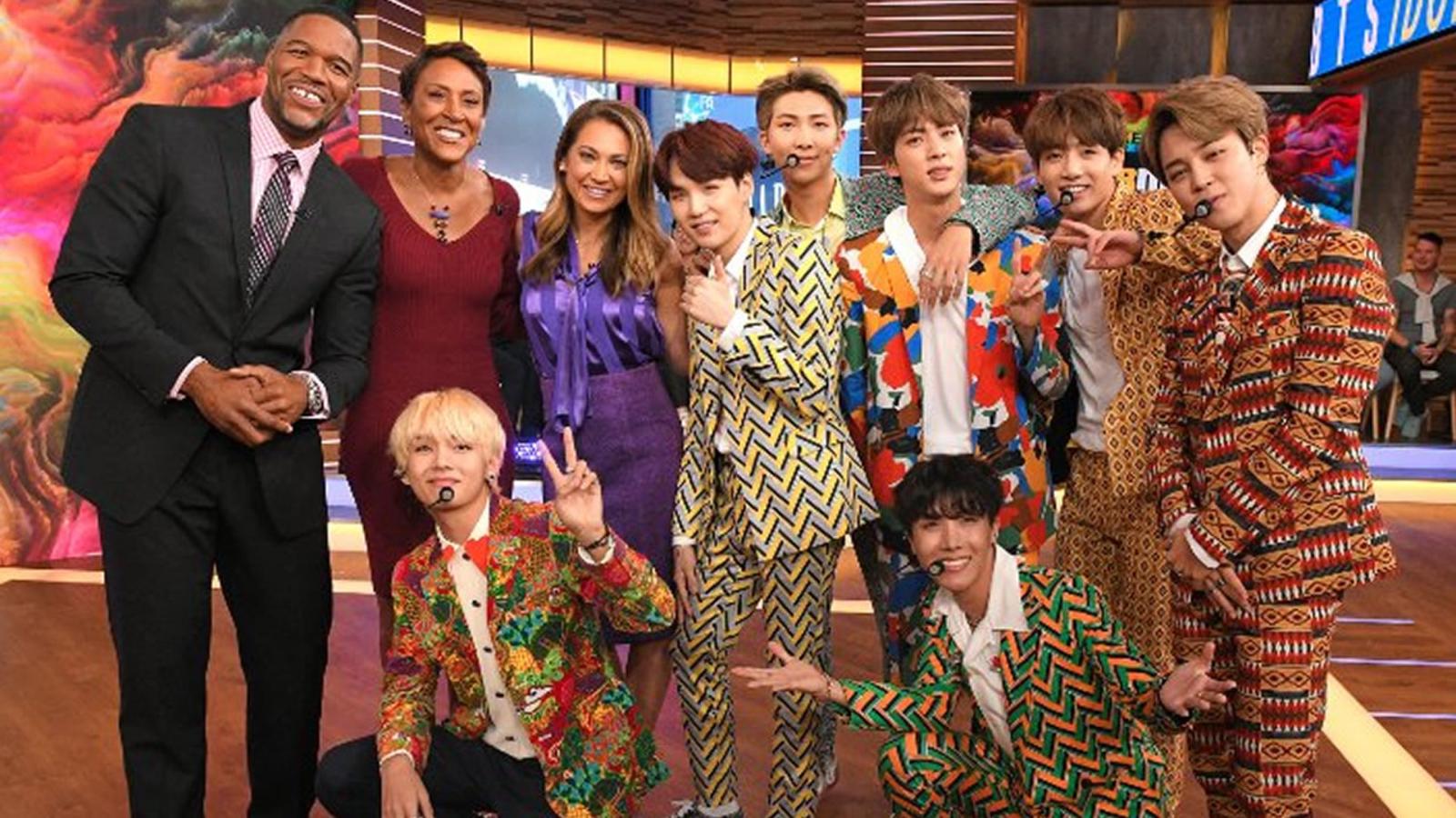 BTS appear on Good Morning America