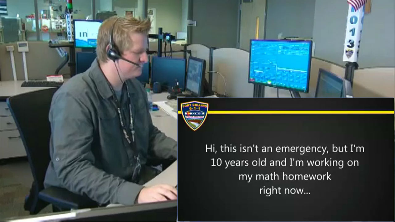 Boy Calls 911 For Help With Math Homework