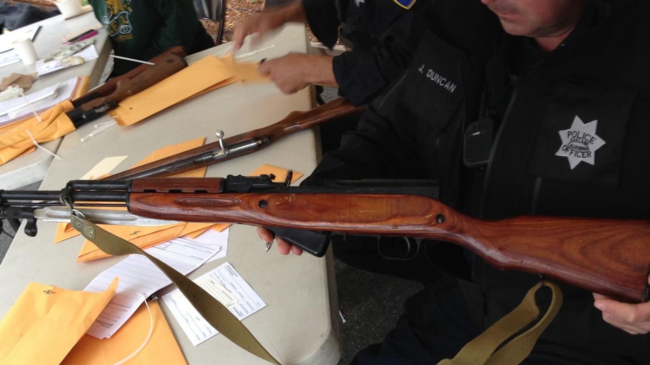 Guns from gun buybacks