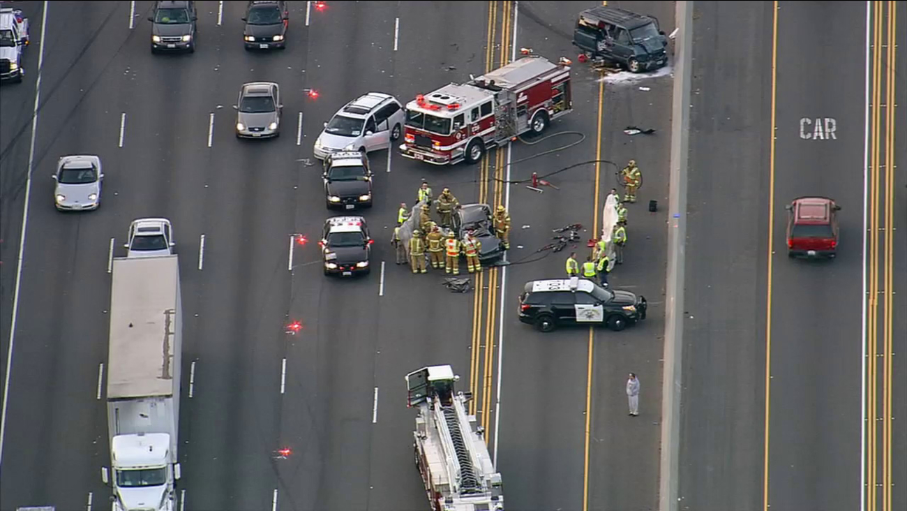 2 killed, 5 hurt in 5 Freeway accident in Irvine | abc7 com