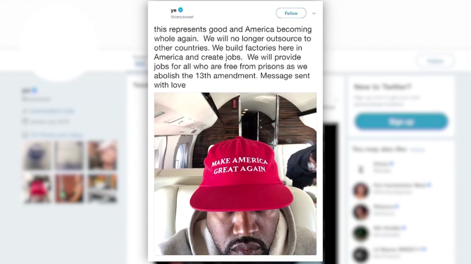 Kanye West Tweets About Abolishing 13th Amendment Abc13com