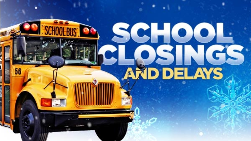 LIST: Business, school closures due to weather
