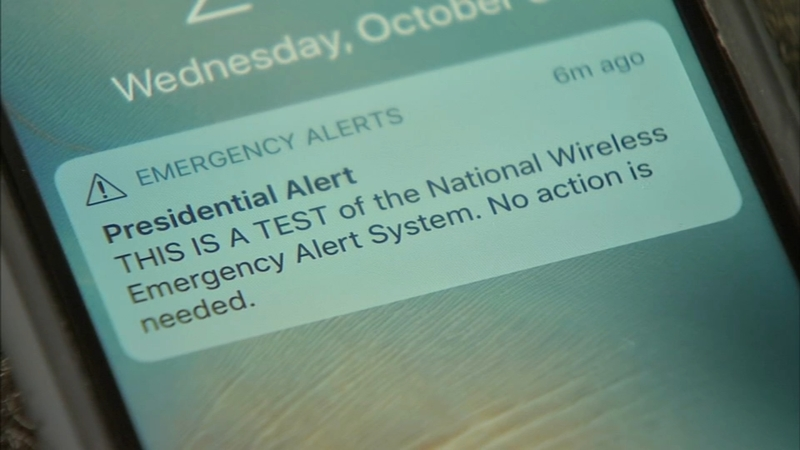 Presidential Alert: System test sent to phones nationwide