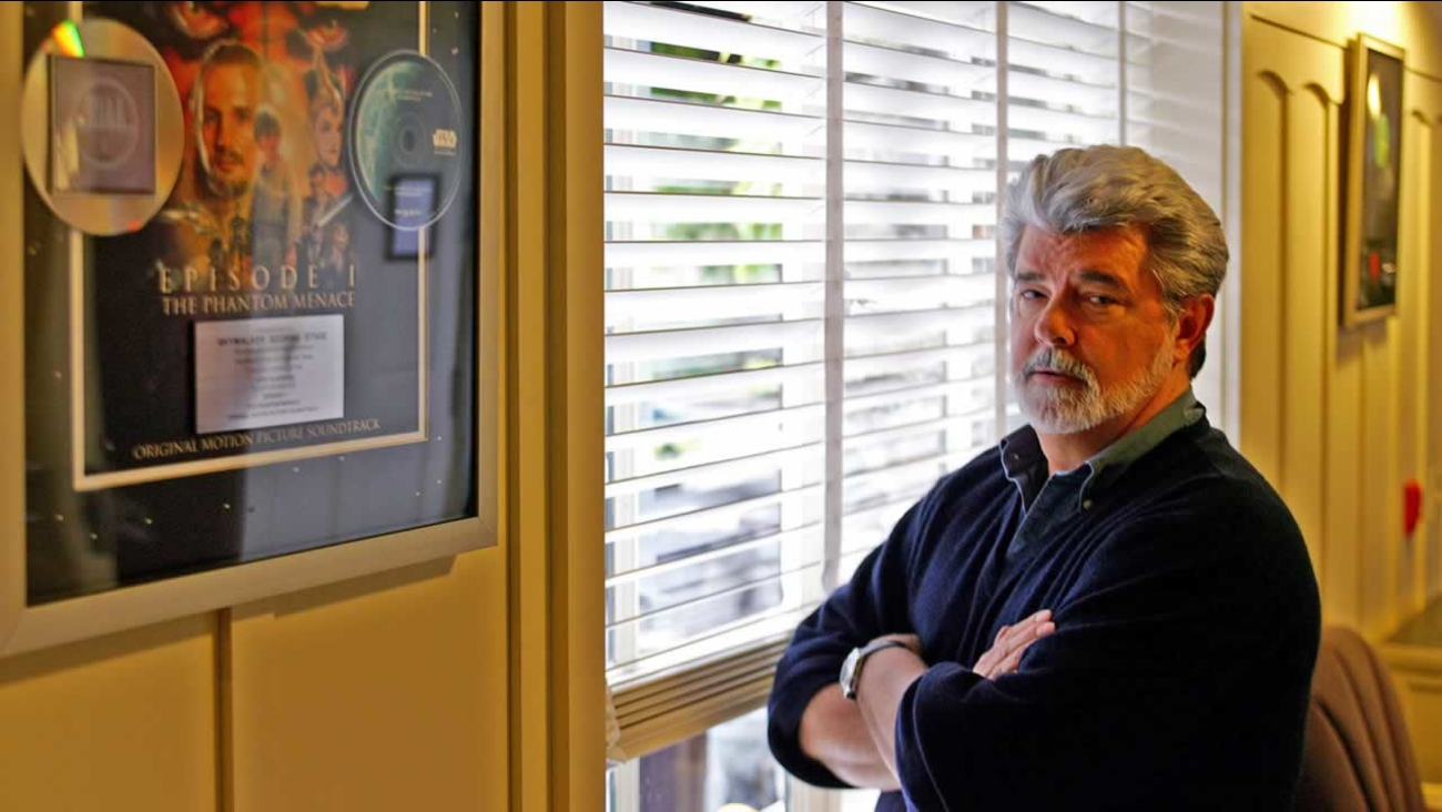 Filmmaker George Lucas poses at Skywalker Ranch in San Rafael, Calif., Wednesday May 4, 2005.