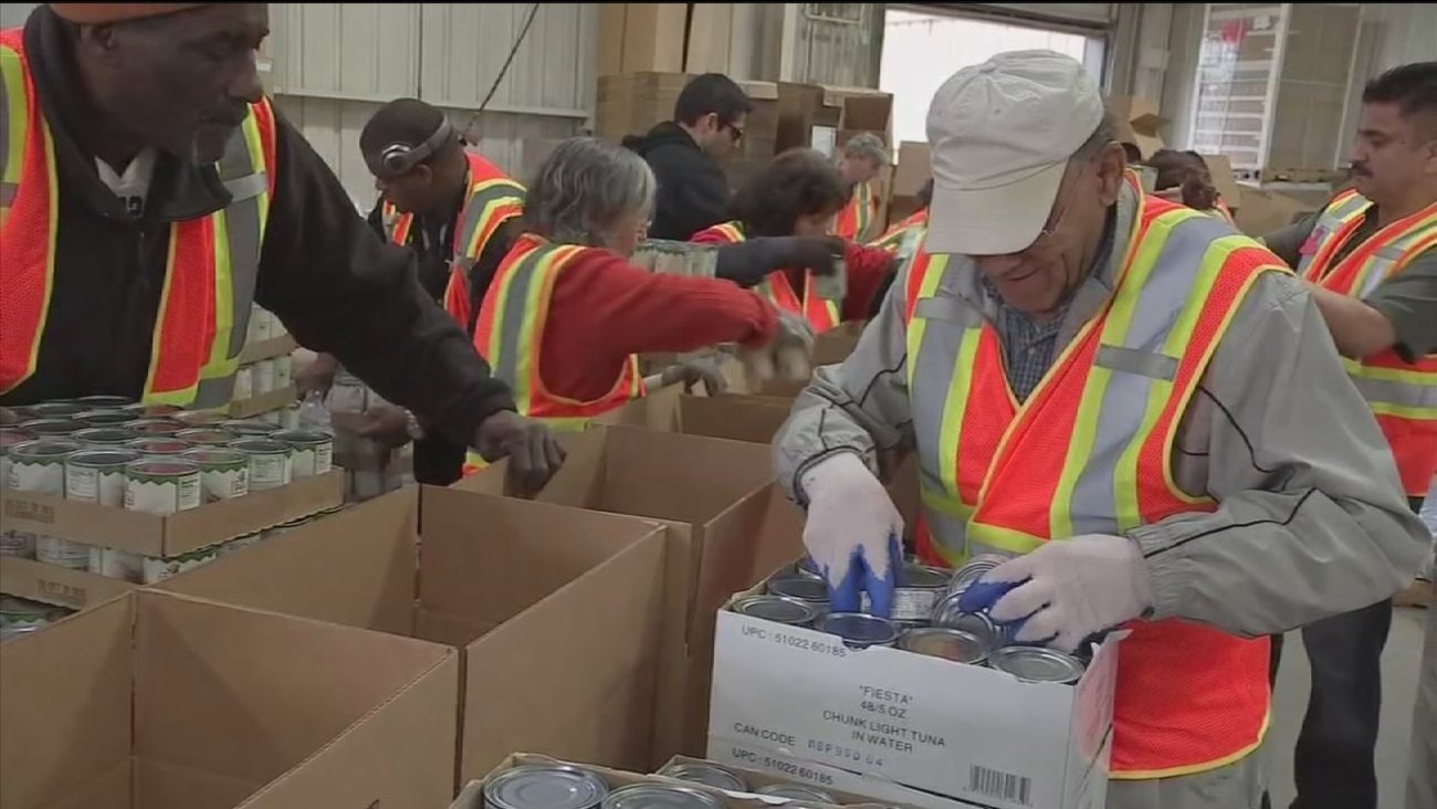 Inside the HPD's Comida Food Drive