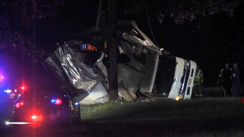 Box truck crashes on Route 73 in Cinnaminson