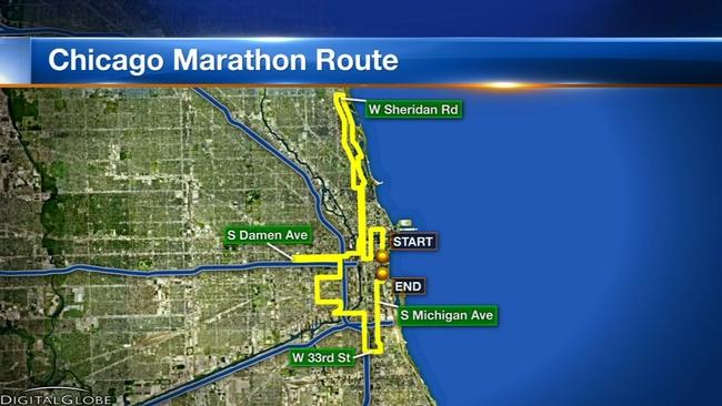 Chicago Marathon 2018 Course Map Street Closures Security