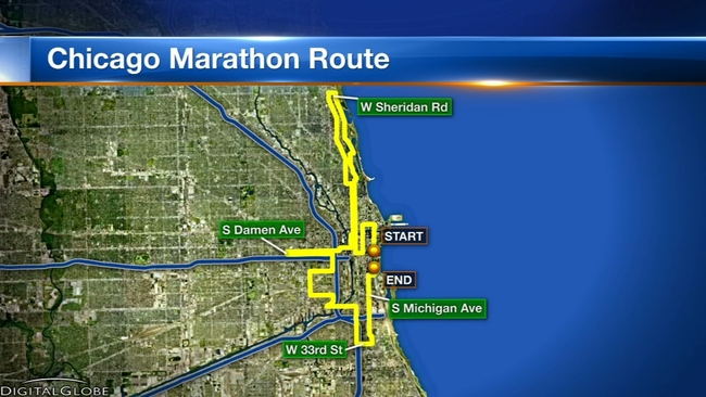 Chicago Marathon 2018 Course Map Street Closures Security