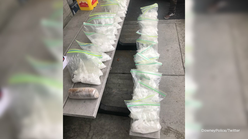 37 pounds of meth found in car during traffic stop in Downey