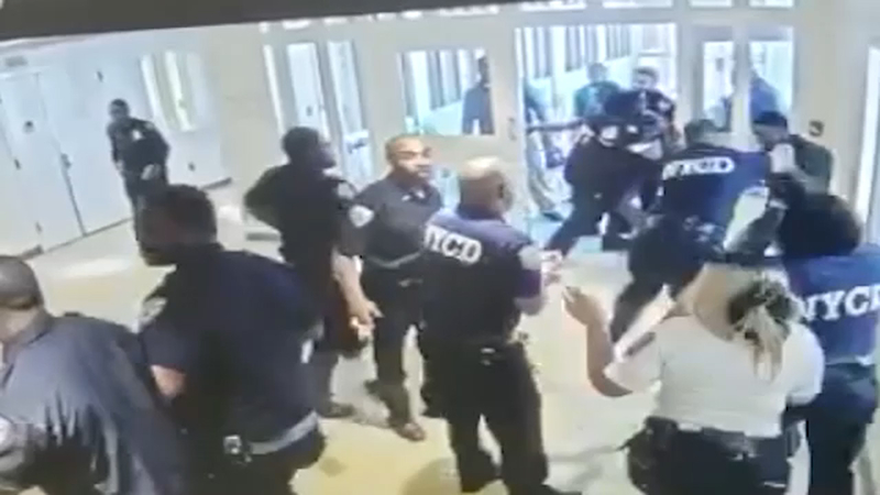 Surveillance video shows brawl at Bronx juvenile facility that left 20  officers hurt
