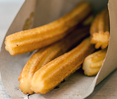 <div class='meta'><div class='origin-logo' data-origin='none'></div><span class='caption-text' data-credit='Credit: NC State Fair'>Churros To Go: Savory Churros -- Crunchy cheese churros topped with bacon and parsley.</span></div>