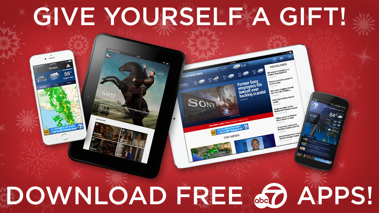 Download ABC7's free news, weather, alarm clock and WATCH apps today!