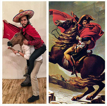 "<div class=""meta image-caption""><div class=""origin-logo origin-image ""><span></span></div><span class=""caption-text"">""Napoleon Crossing the Alps"" by Jacques-Louis David (Foolsdoart)</span></div>"