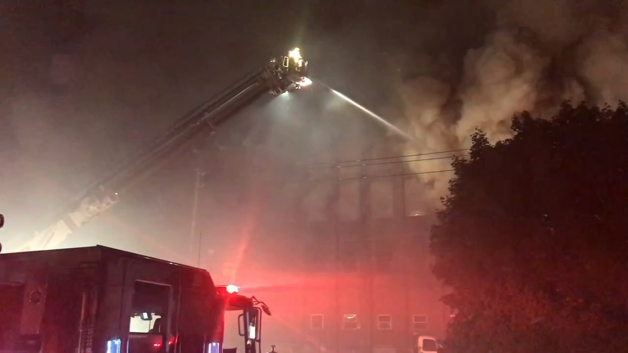 6f32f2c2ab7 Multi-alarm fire at Allentown warehouse, firefighter injured | 6abc.com