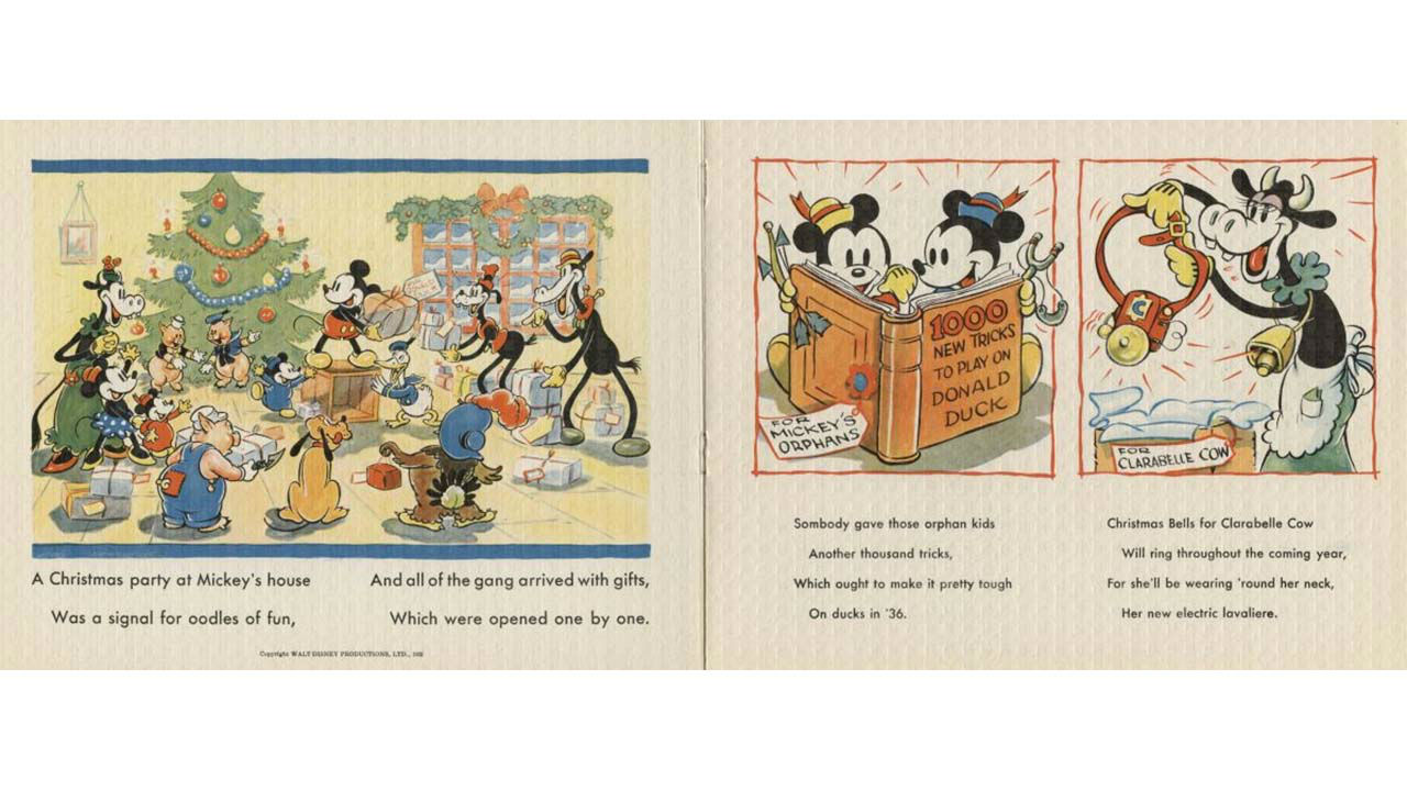 Disney Christmas Cards.Photos Go Back In Time With Vintage Disney Christmas Cards