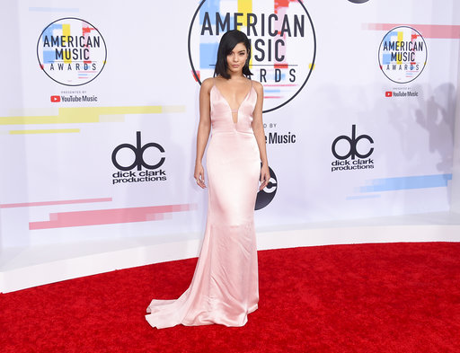 "<div class=""meta image-caption""><div class=""origin-logo origin-image none""><span>none</span></div><span class=""caption-text"">Vanessa Hudgens arrives at the American Music Awards on Tuesday, Oct. 9, 2018, at the Microsoft Theater in Los Angeles. (Jordan Strauss/Invision/AP)</span></div>"