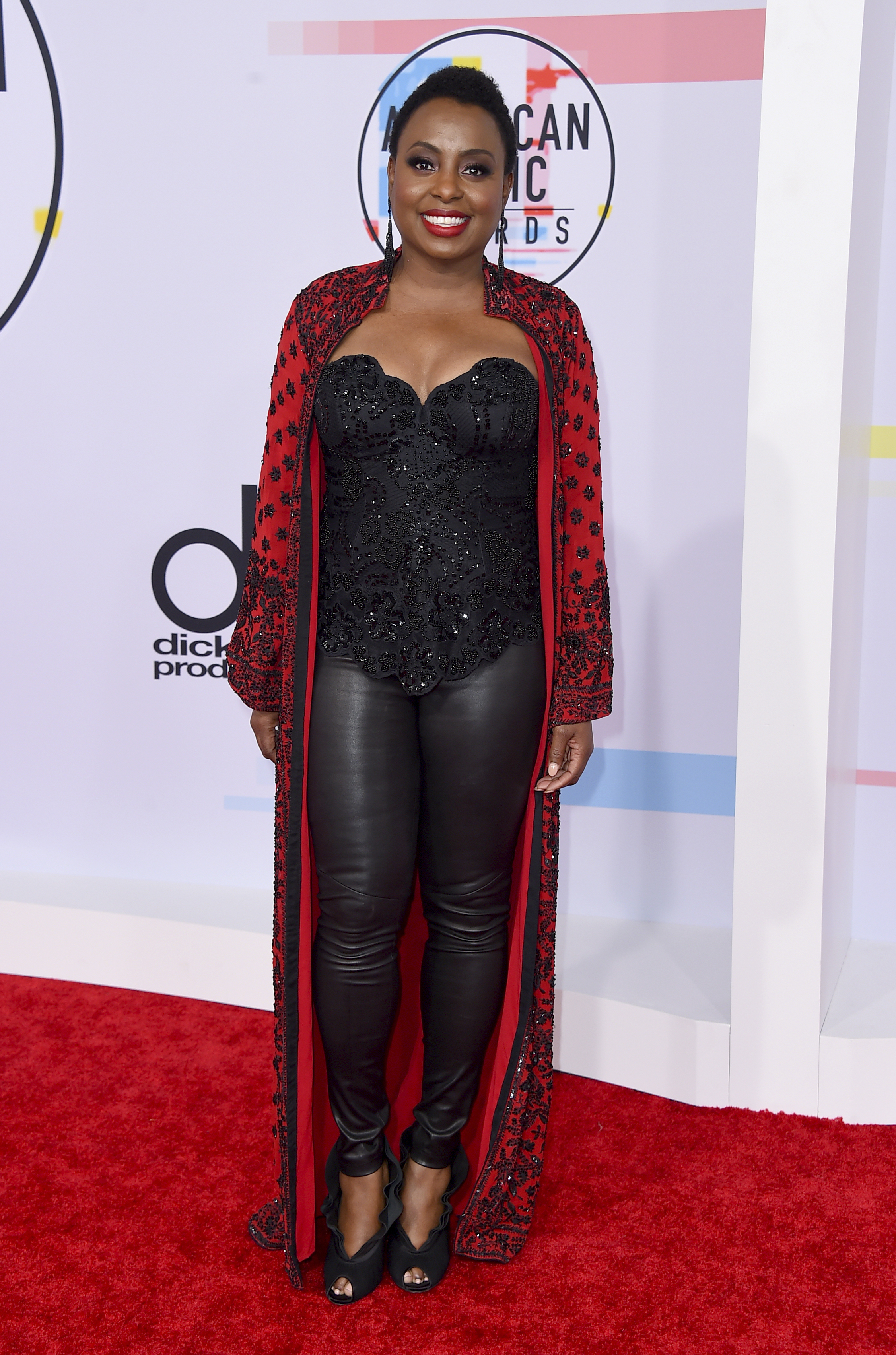 "<div class=""meta image-caption""><div class=""origin-logo origin-image none""><span>none</span></div><span class=""caption-text"">Ledisi arrives at the American Music Awards on Tuesday, Oct. 9, 2018, at the Microsoft Theater in Los Angeles. (Jordan Strauss/Invision/AP)</span></div>"