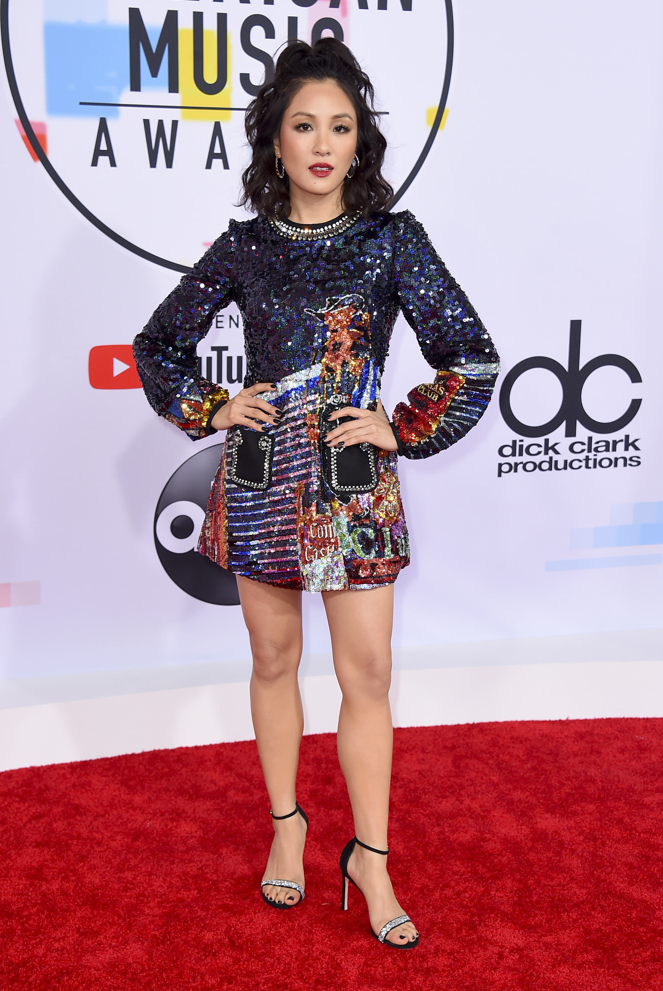 "<div class=""meta image-caption""><div class=""origin-logo origin-image none""><span>none</span></div><span class=""caption-text"">Constance Wu arrives at the American Music Awards on Tuesday, Oct. 9, 2018, at the Microsoft Theater in Los Angeles. (Jordan Strauss/Invision/AP)</span></div>"