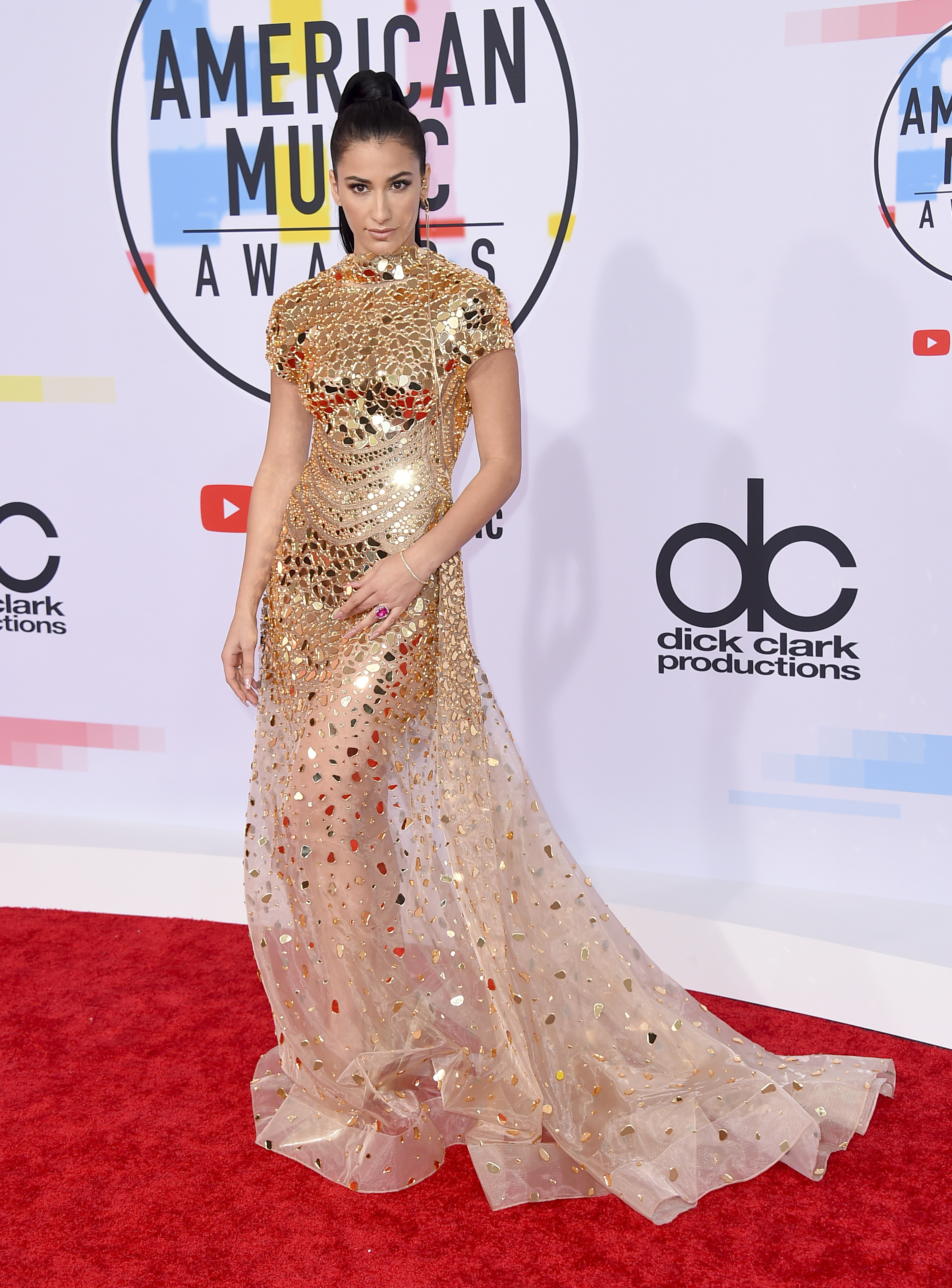 "<div class=""meta image-caption""><div class=""origin-logo origin-image none""><span>none</span></div><span class=""caption-text"">Lexy Panterra arrives at the American Music Awards on Tuesday, Oct. 9, 2018, at the Microsoft Theater in Los Angeles. (Jordan Strauss/Invision/AP)</span></div>"