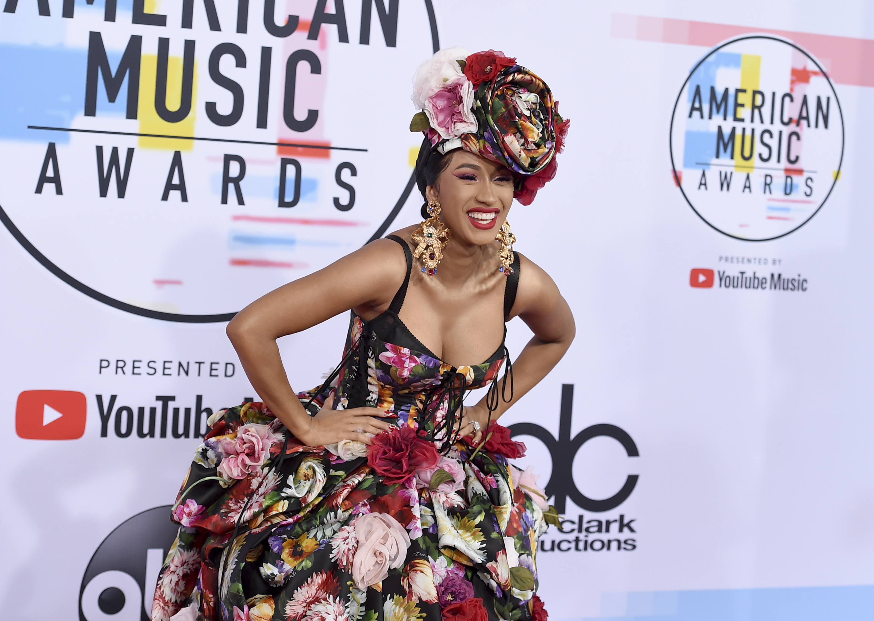 "<div class=""meta image-caption""><div class=""origin-logo origin-image none""><span>none</span></div><span class=""caption-text"">Cardi B arrives at the American Music Awards on Tuesday, Oct. 9, 2018, at the Microsoft Theater in Los Angeles. (Jordan Strauss/Invision/AP)</span></div>"