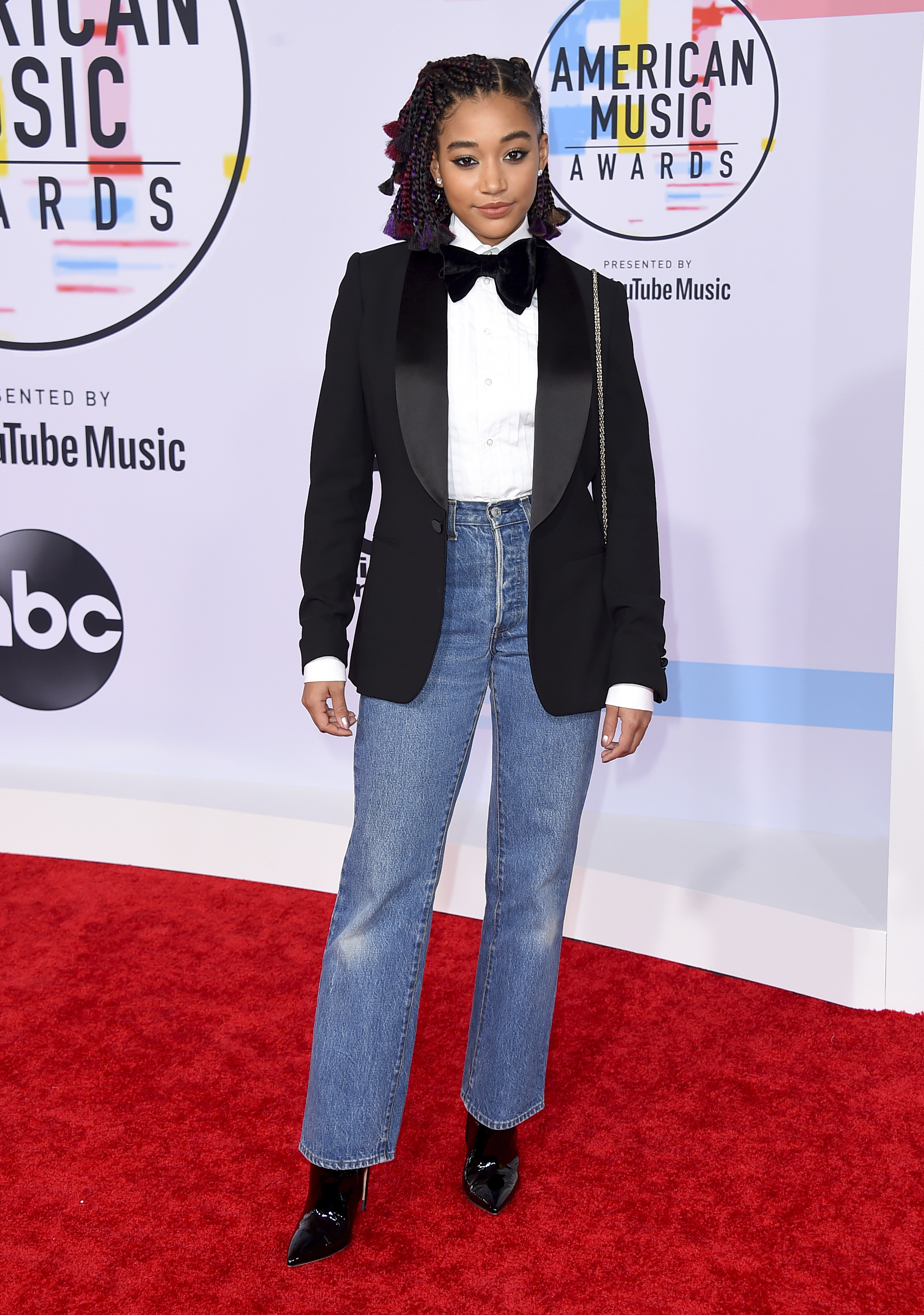 "<div class=""meta image-caption""><div class=""origin-logo origin-image none""><span>none</span></div><span class=""caption-text"">Amandla Stenberg arrives at the American Music Awards on Tuesday, Oct. 9, 2018, at the Microsoft Theater in Los Angeles. (Jordan Strauss/Invision/AP)</span></div>"