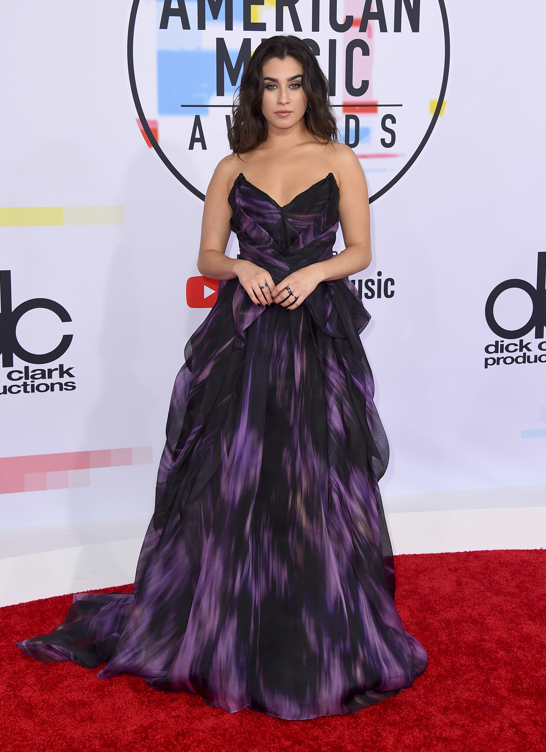 "<div class=""meta image-caption""><div class=""origin-logo origin-image none""><span>none</span></div><span class=""caption-text"">Lauren Jauregui arrives at the American Music Awards on Tuesday, Oct. 9, 2018, at the Microsoft Theater in Los Angeles. (Jordan Strauss/Invision/AP)</span></div>"