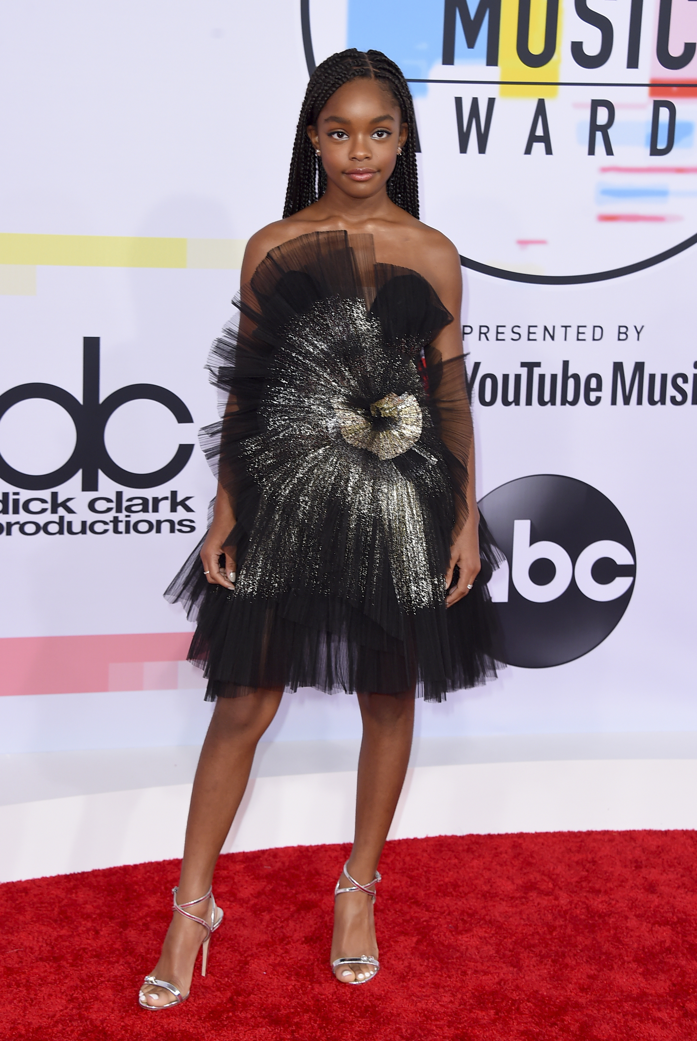 "<div class=""meta image-caption""><div class=""origin-logo origin-image none""><span>none</span></div><span class=""caption-text"">Marsai Martin arrives at the American Music Awards on Tuesday, Oct. 9, 2018, at the Microsoft Theater in Los Angeles. (Jordan Strauss/Invision/AP)</span></div>"