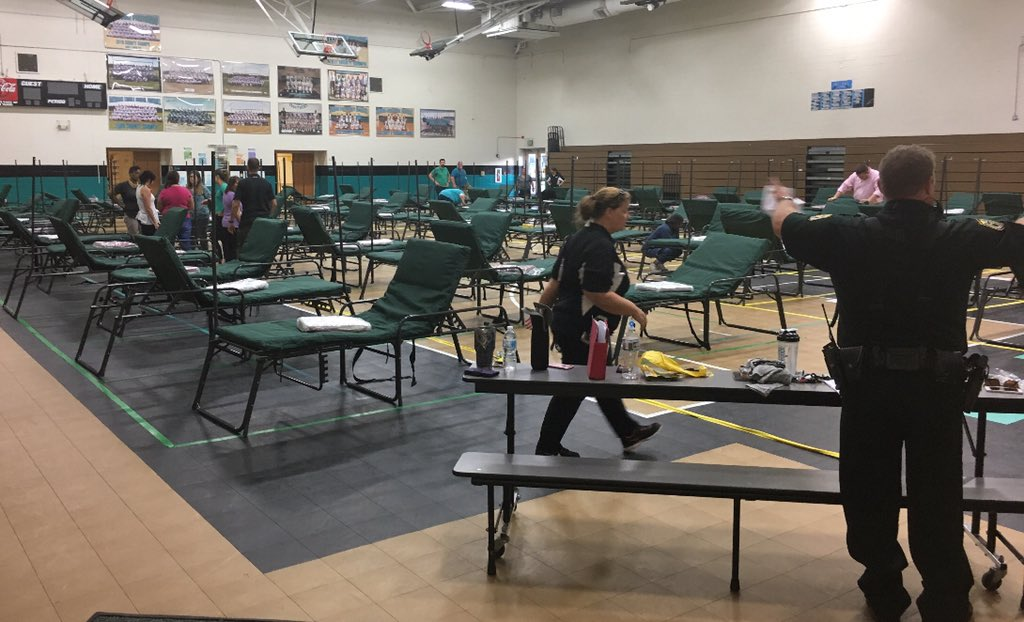 <div class='meta'><div class='origin-logo' data-origin='none'></div><span class='caption-text' data-credit='OCSOALERTS/Twitter'>''Davidson Middle School in #Crestview has opened its doors as a shelter,'' the Okaloosa Co. Sheriff's Office wrote on Twitter.</span></div>