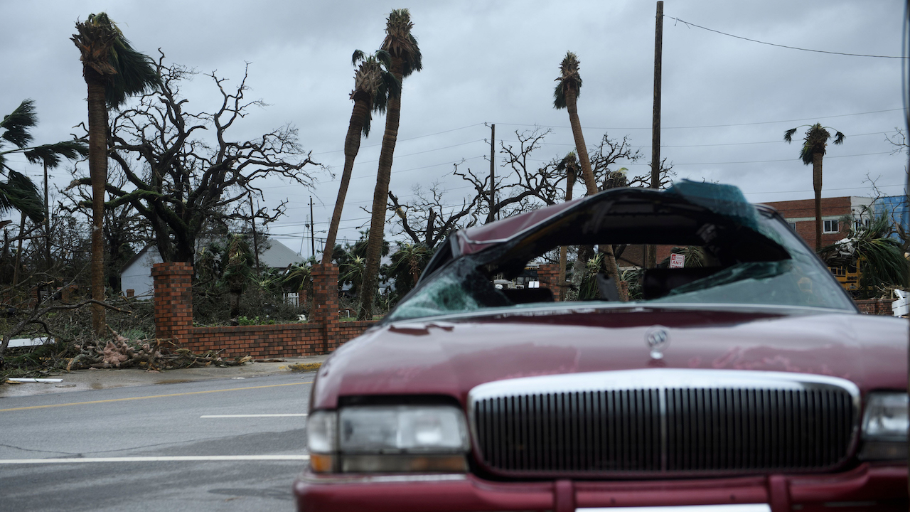 <div class='meta'><div class='origin-logo' data-origin='Creative Content'></div><span class='caption-text' data-credit='Brendan Smialowski/AFP/Getty Images'>Storm damage is seen after Hurricane Michael October 10, 2018, in Panama City, Florida.</span></div>