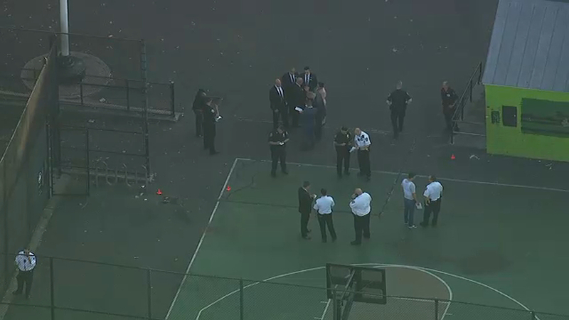 Video shows people fleeing after 2 shot on Bronx playground