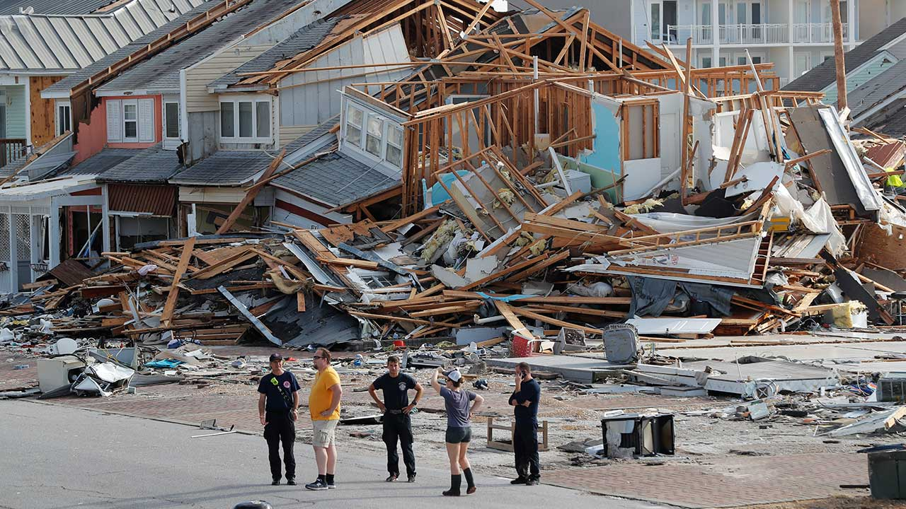 <div class='meta'><div class='origin-logo' data-origin='none'></div><span class='caption-text' data-credit='Gerald Herbert/AP Photo'>Rescue personnel perform a search in the aftermath of Hurricane Michael in Mexico Beach, Fla., Thursday, Oct. 11, 2018.</span></div>