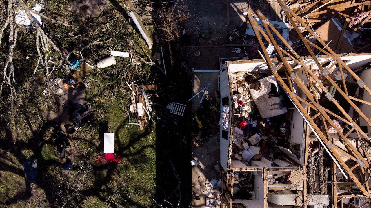 <div class='meta'><div class='origin-logo' data-origin='Creative Content'></div><span class='caption-text' data-credit='Brendan Smialowski/AFP/Getty Images'>Storm damage is seen in the aftermath of Hurricane Michael October 11, 2018, in Panama City, Florida.</span></div>