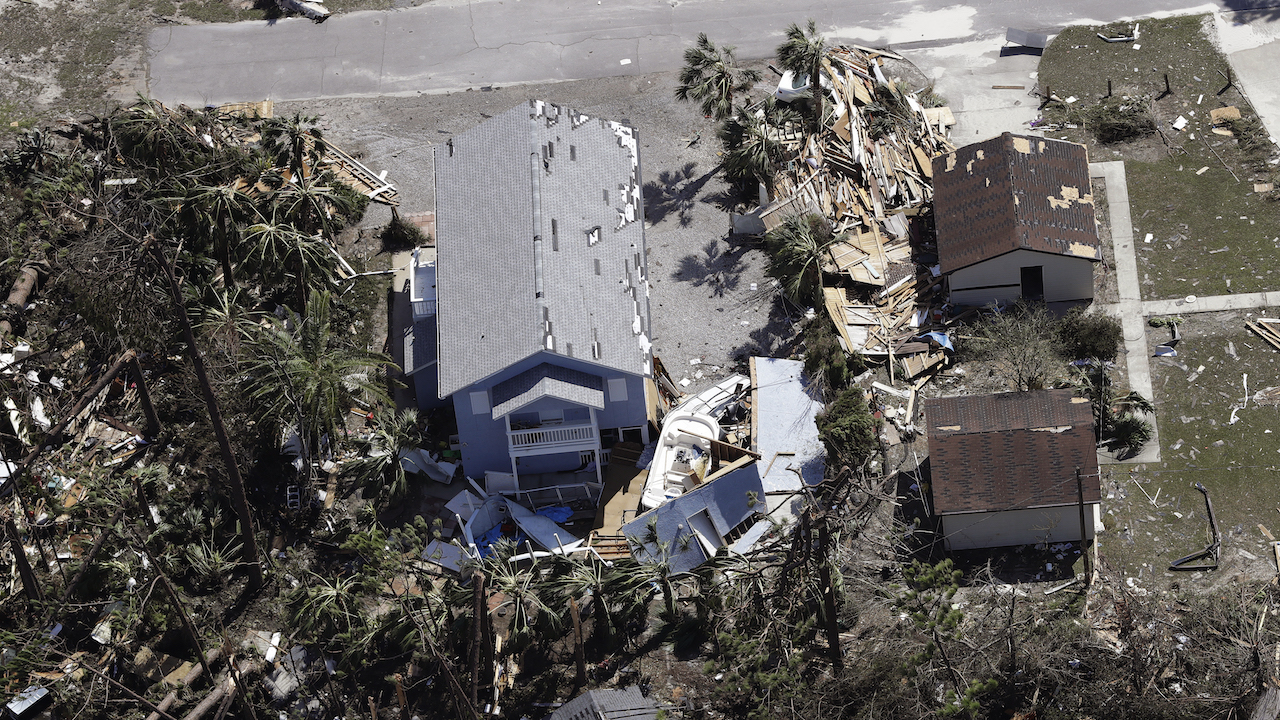 "<div class=""meta image-caption""><div class=""origin-logo origin-image ap""><span>AP</span></div><span class=""caption-text"">A home is destroyed from Hurricane Michael Thursday, Oct. 11, 2018, in Mexico Beach, Fla. (AP Photo/Chris O'Meara)</span></div>"