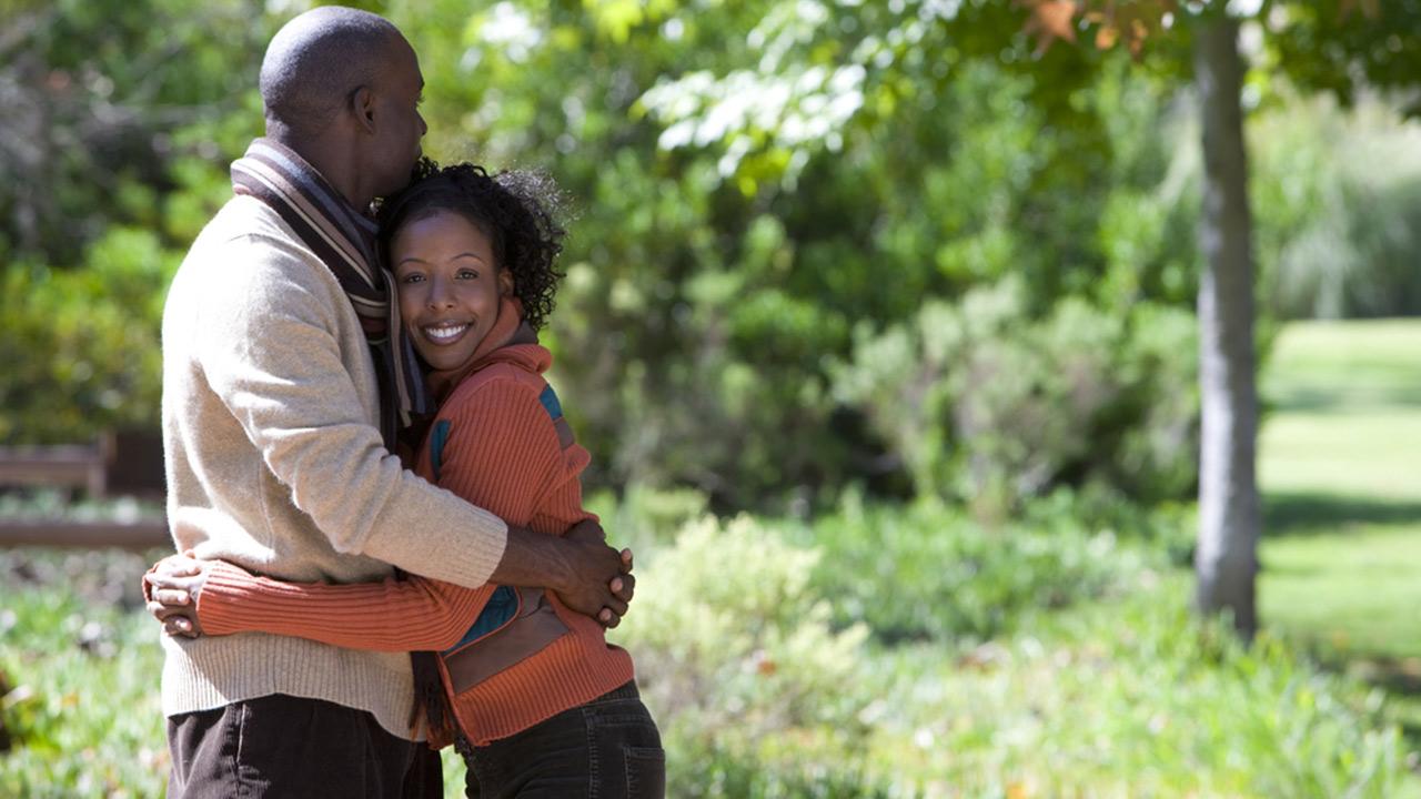 hugging couple