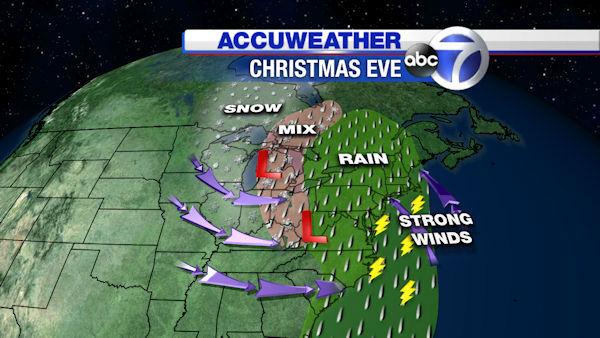 AccuWeather forecast maps for Christmas week | abc7ny.com