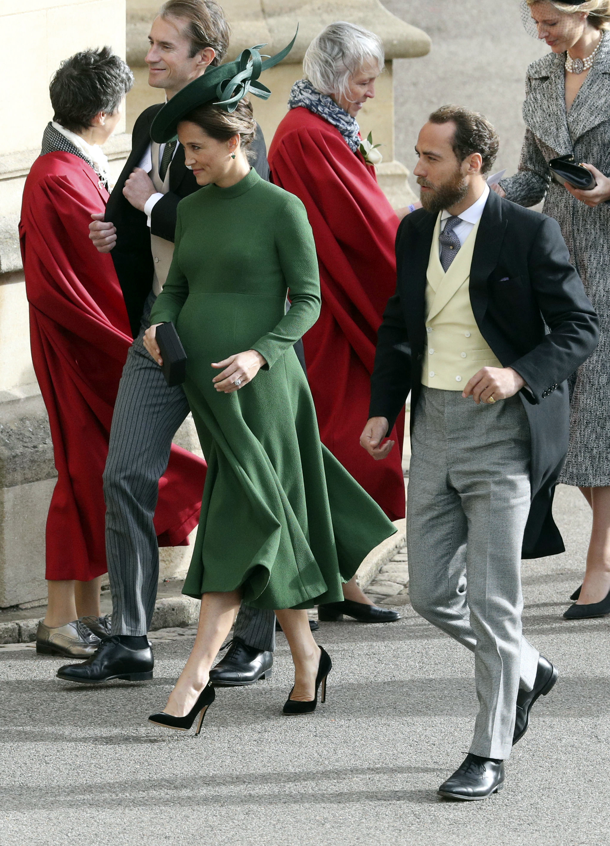 <div class='meta'><div class='origin-logo' data-origin='none'></div><span class='caption-text' data-credit='Andrew Matthews/Pool via AP'>Pippa and James Matthews, right, arrive for the wedding of Princess Eugenie of York and Jack Brooksbank at St George's Chapel, Windsor Castle, near London, England.</span></div>