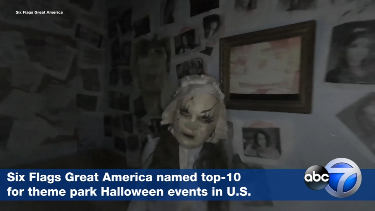six flags great america named top-10 theme park halloween event