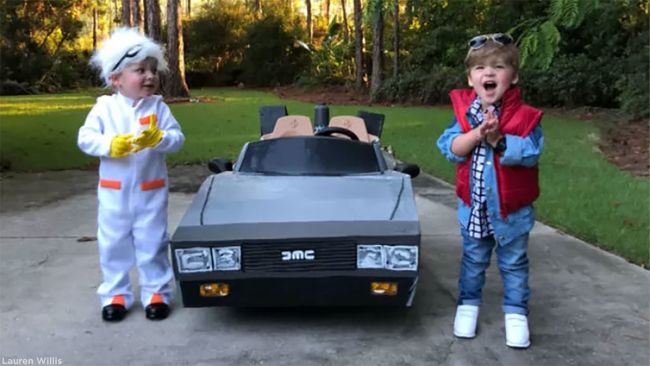 Back to the future inspired kids halloween costume will make you back to the future inspired kids halloween costume will make you want to to hop into your delorean abc7news solutioingenieria Gallery