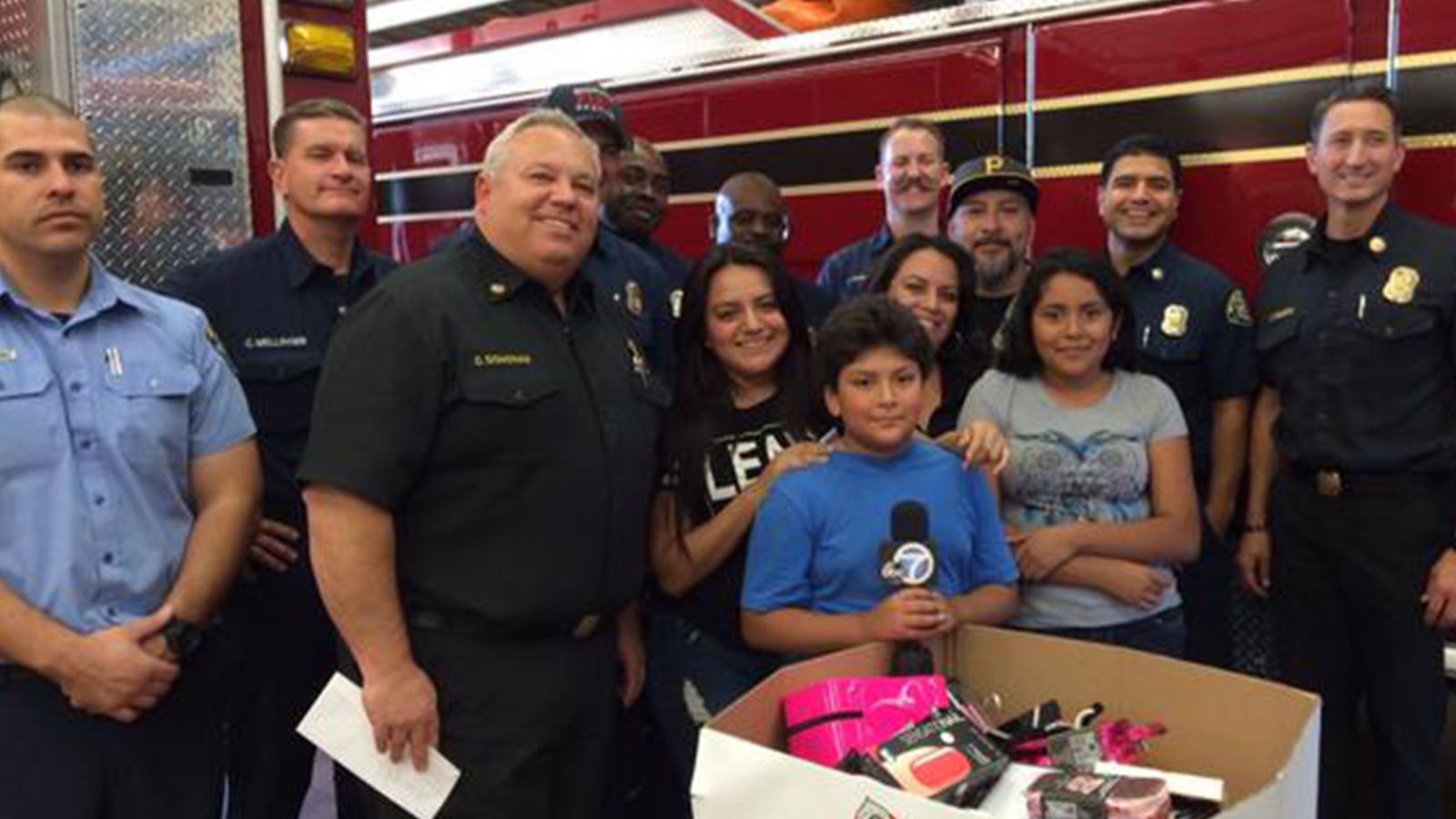 Monrovia Family Surprised With Christmas Gifts After