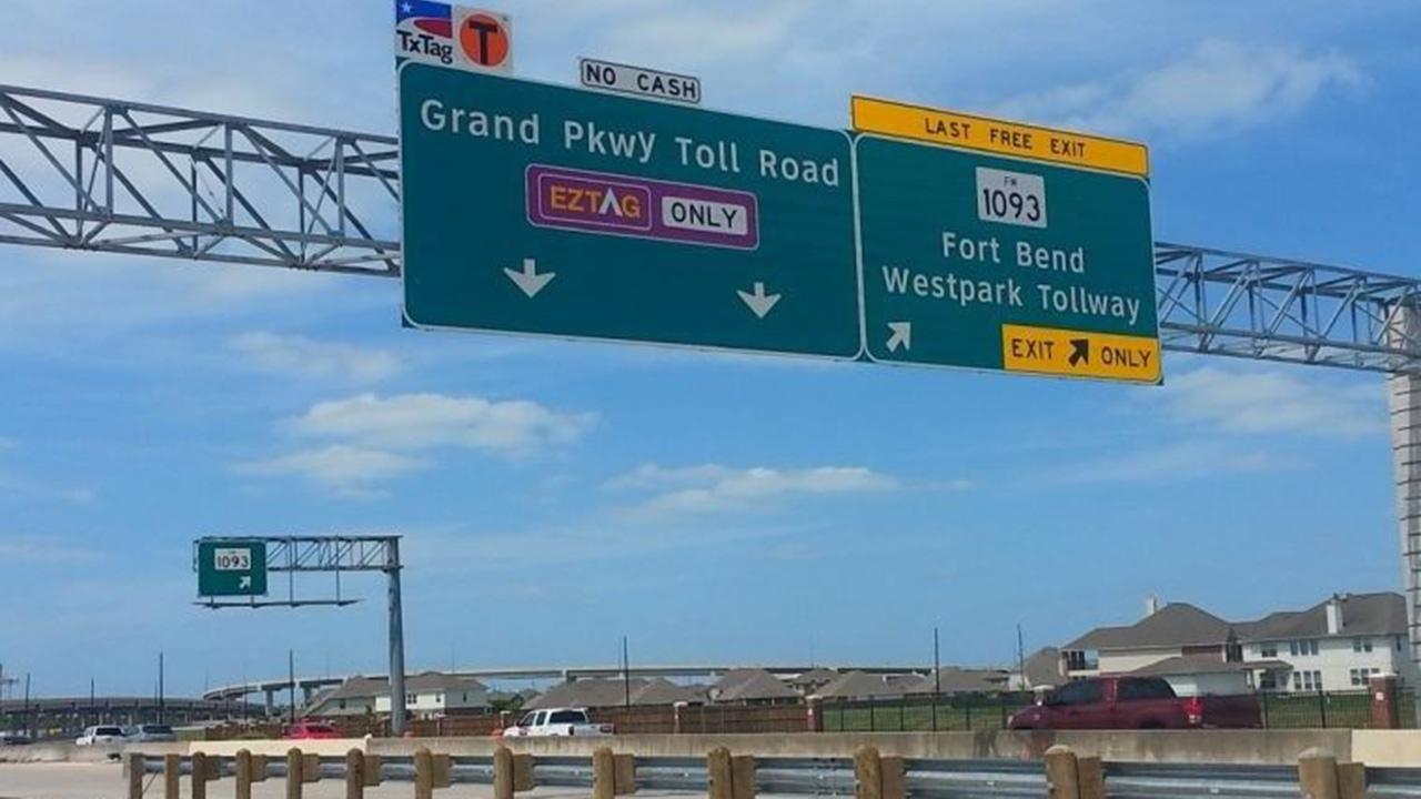 Grand Parkway near the Westpark Tollway