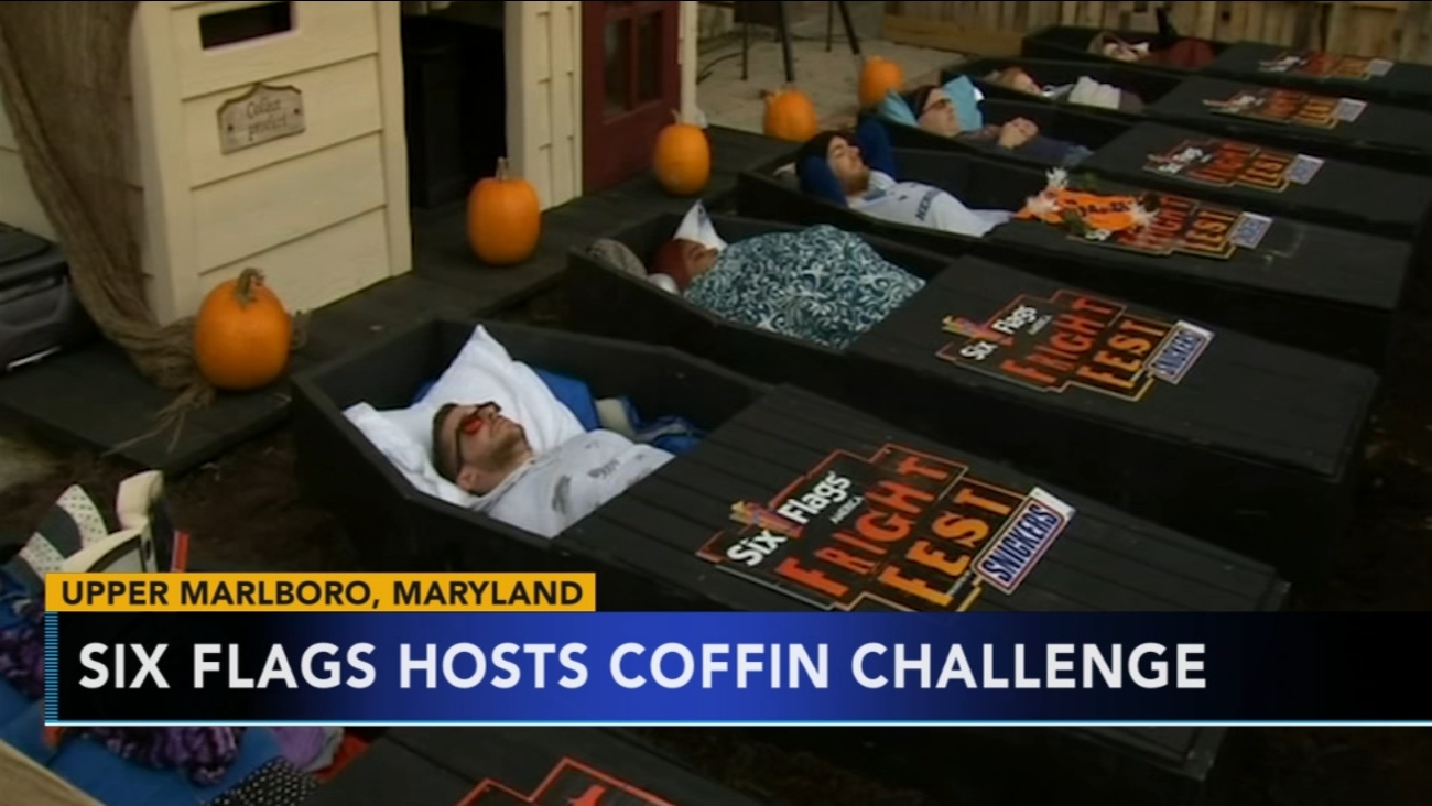 6 People Take Part In Six Flags Coffin Challenge In Maryland