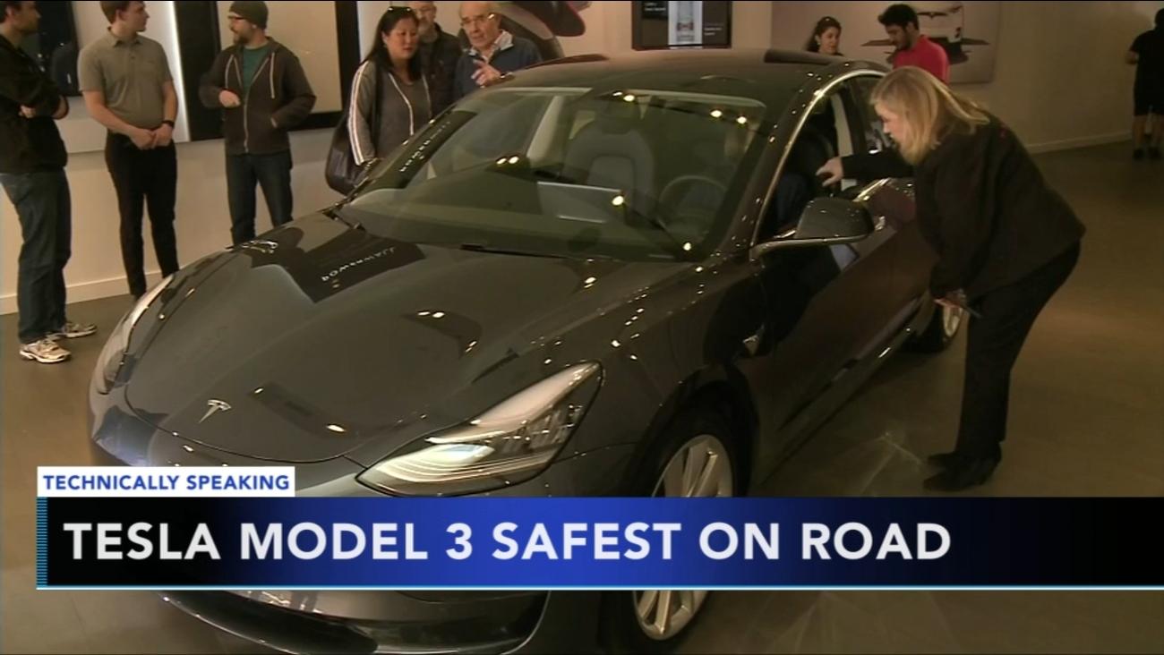 Tesla S Model 3 Named Safest Car Ever Made