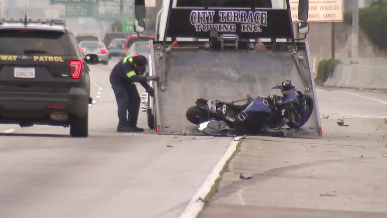 Motorcyclist Killed In Crash On 110 Fwy In South La