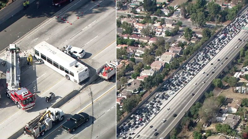 405 Fwy crash in North Hills injures 40 people, shuts down lanes