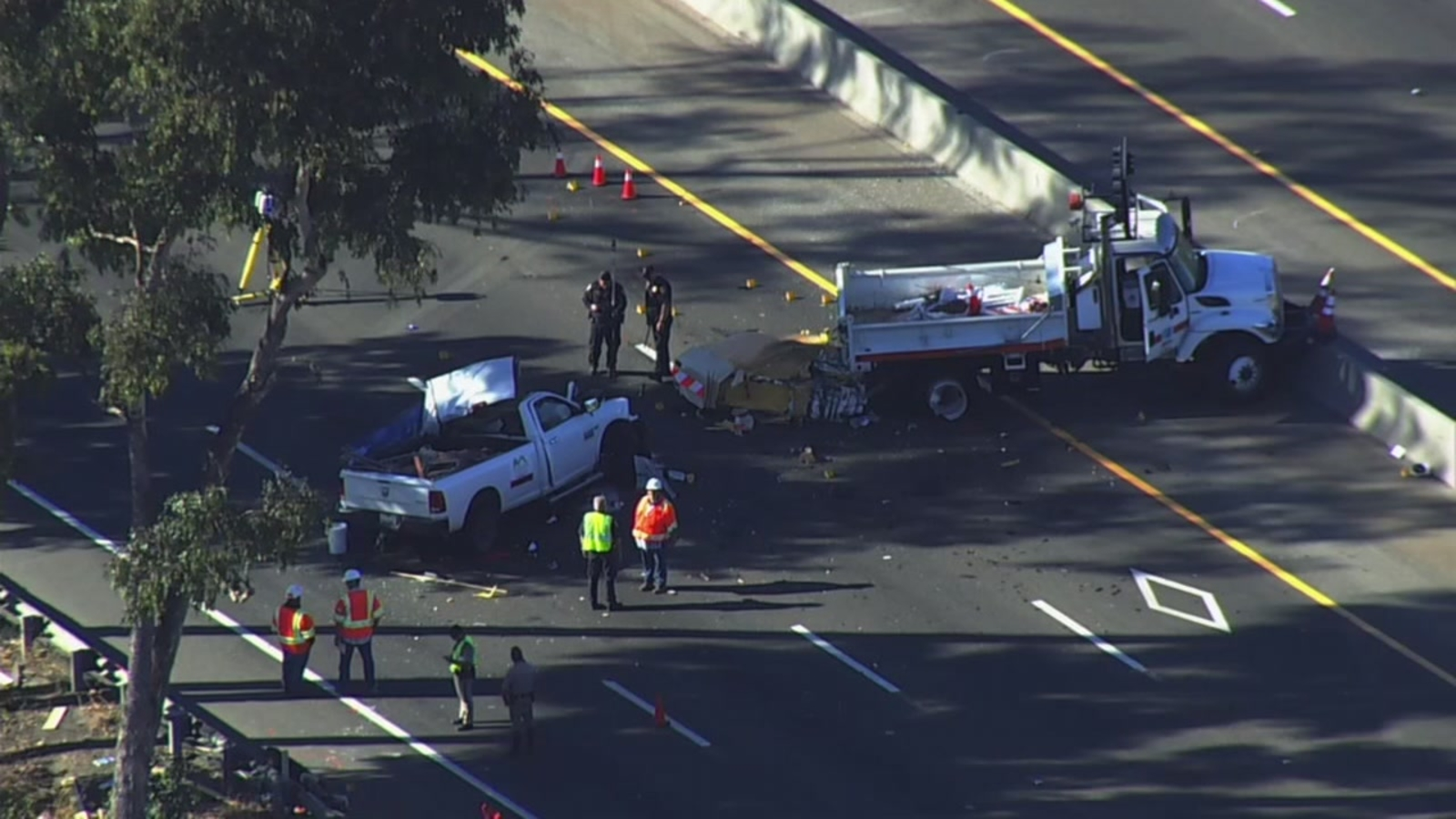 Man, dog dies in crash on Highway 101 in San Jose