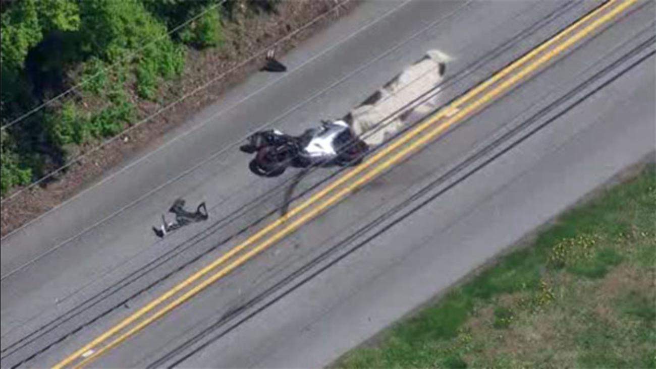Motorcycle crash in Westtown Twp.